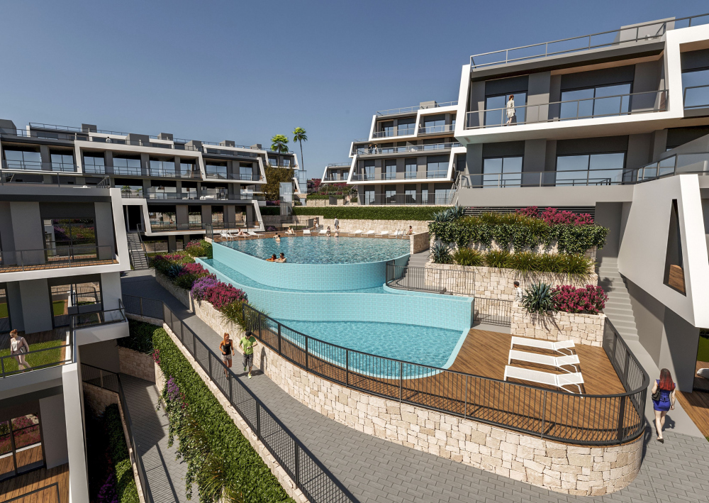 Modernes Apartment mit Panoramablick aufs Meer